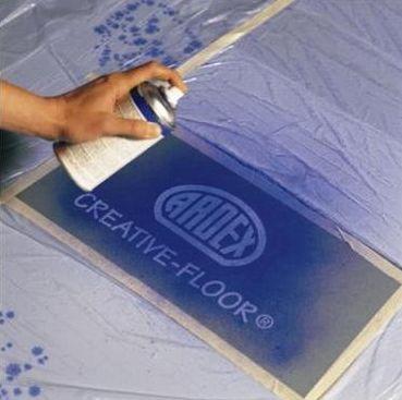 Нанесение краски на пленку Удаление пленки распылителем